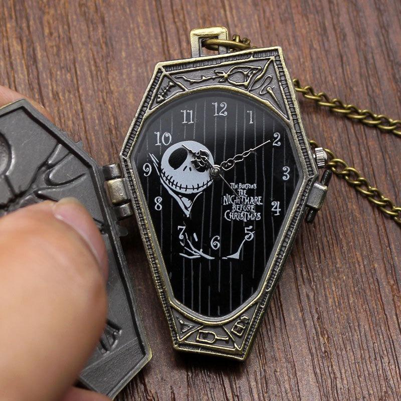 086044cd946f Jack Skellington Reloj Dije De Bolsillo Y Cadena D Colección ...