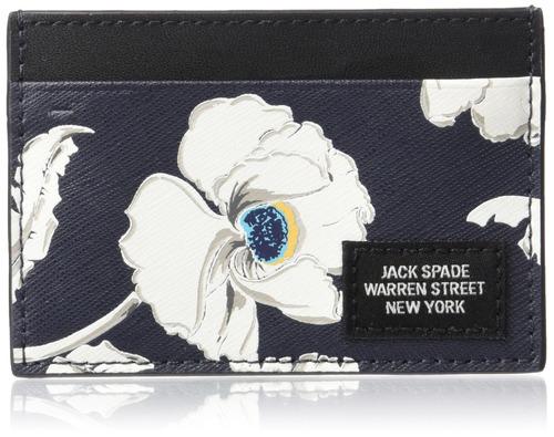 jack spade - tarjeta de crédito de amapola, floral, para hom