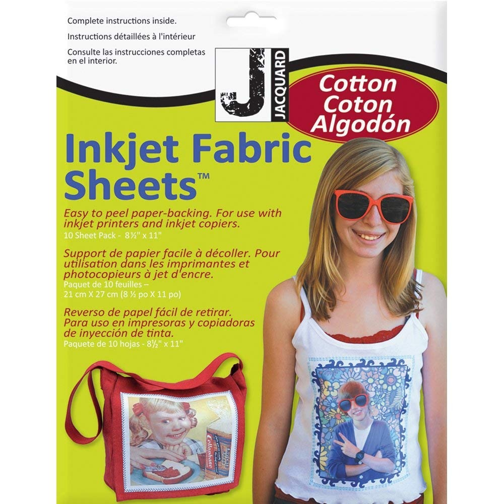 Jacquard Ink Jet Fabric 8 5'' X 11'' Cotton Sheets (10 Pack)