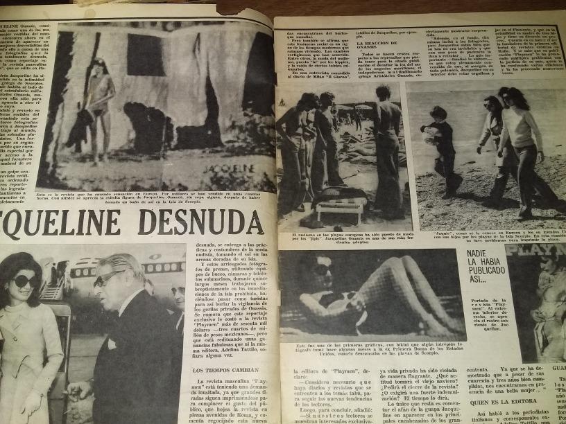 Jacqueline Kennedy Desnuda Historia De La Mafia Revista Aler 35000