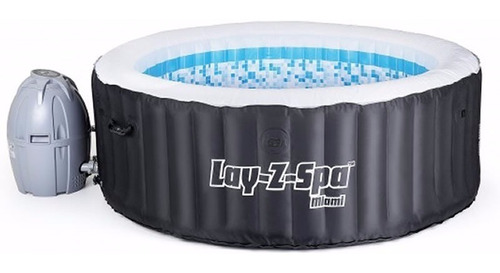 jacuzzi con hidromasaje inflable lay-z-spa miami c/ cobertor