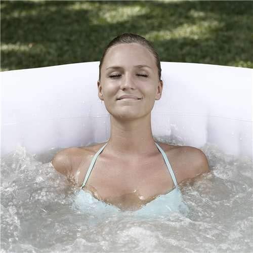 jacuzzi inflable bañera hidromasaje coleman saluspa gris