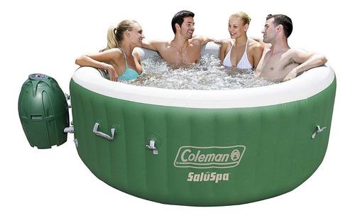 jacuzzi inflable bañera hidromasaje verde coleman lay-z-spa