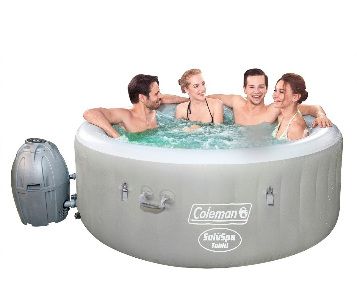 Jacuzzi Inflable Para 2 Personas.Jacuzzi Inflable Coleman De 5 9 X 2 2 Led 4 Personas