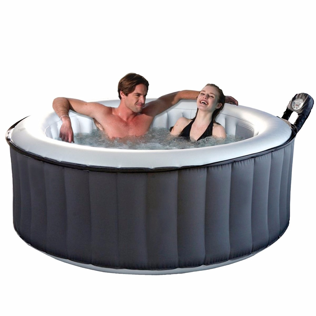 Jacuzzi inflable portatil inflable 4 personas hidromasaje for Jacuzzi exterior 2 personas