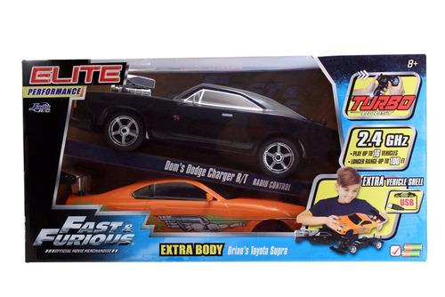 jada toys ff '70 dodge charger rt elite street rc carro + ex