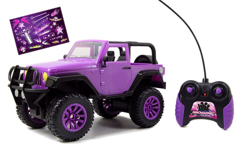 jada toys girlmazing big foot jeep r/c vehículo (escala