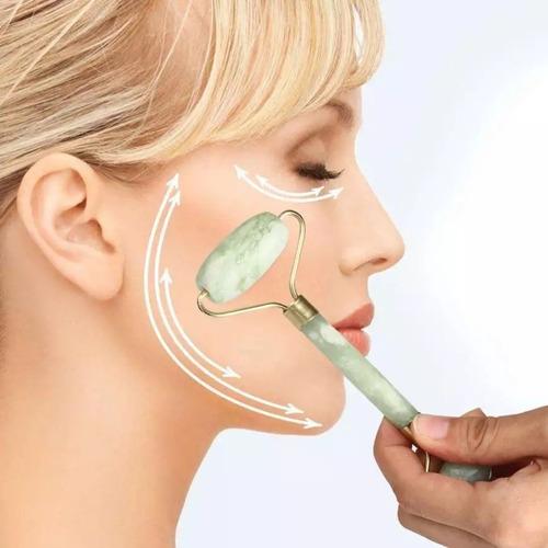 jade roller massageador facial pedra de jade real