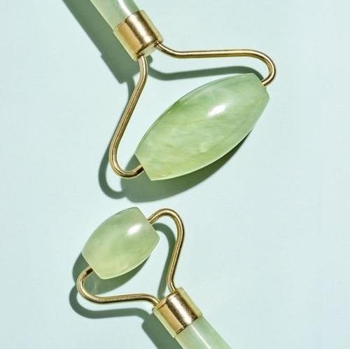 jade roller - massageador facial - rolo pedra de jade