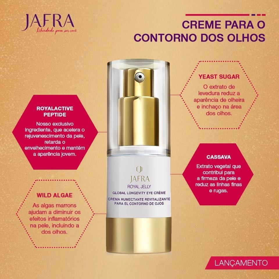 Jafra Creme Contorno Olhos Royal Jelly Ritual De 12900 Por R 120 Caractersticas Marca Linha