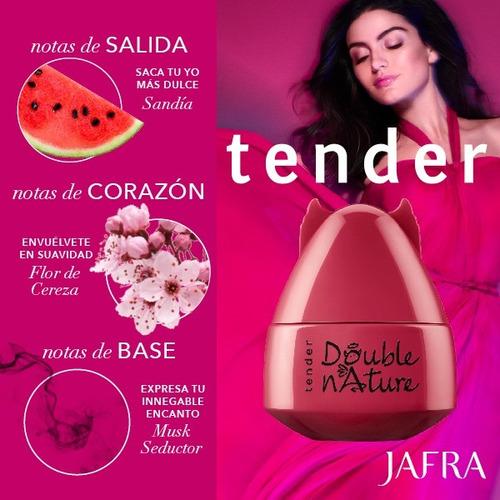 jafra perfume double nature tender 50ml  diablito y angelito