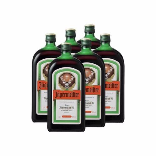jagermeister licor caixa com 06 unid de 1 lt original