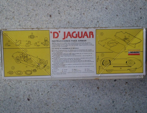 jaguar para armar escala 1/24