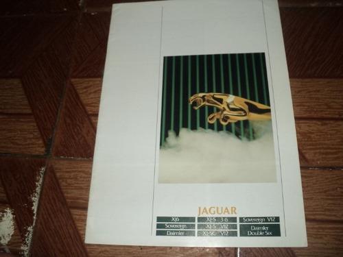 jaguar xj6/xjs 3.6/xjs v12  1988 folheto