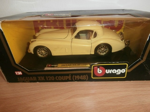 jaguar xk 120 coupe 1948 burago escala: 1:24
