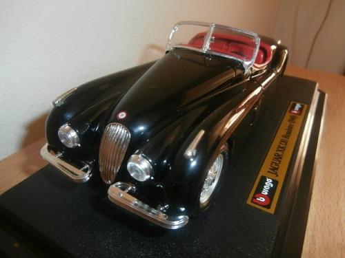 jaguar xk 120 roadster 1948 burago escala: 1:24