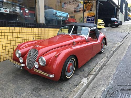 jaguar xk120 6cc inj mec ar direção conversivel hot rood v8