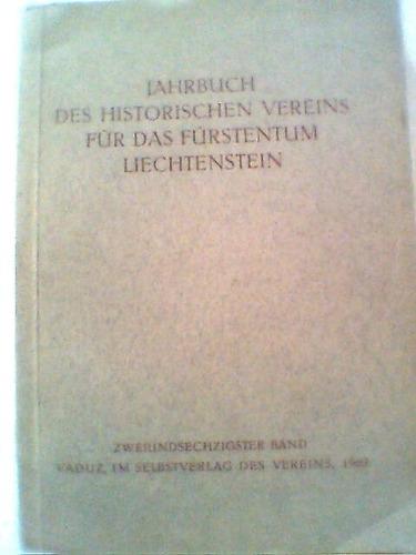 jahrbuch des historischen vereins für das fürstentum liechte