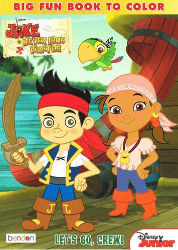 jake and the neverland pirates libro para colorear de  ...