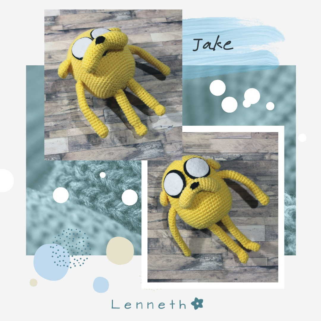 JAKE Hora de Aventuras Amigurumi Tutorial - YouTube | 1080x1080