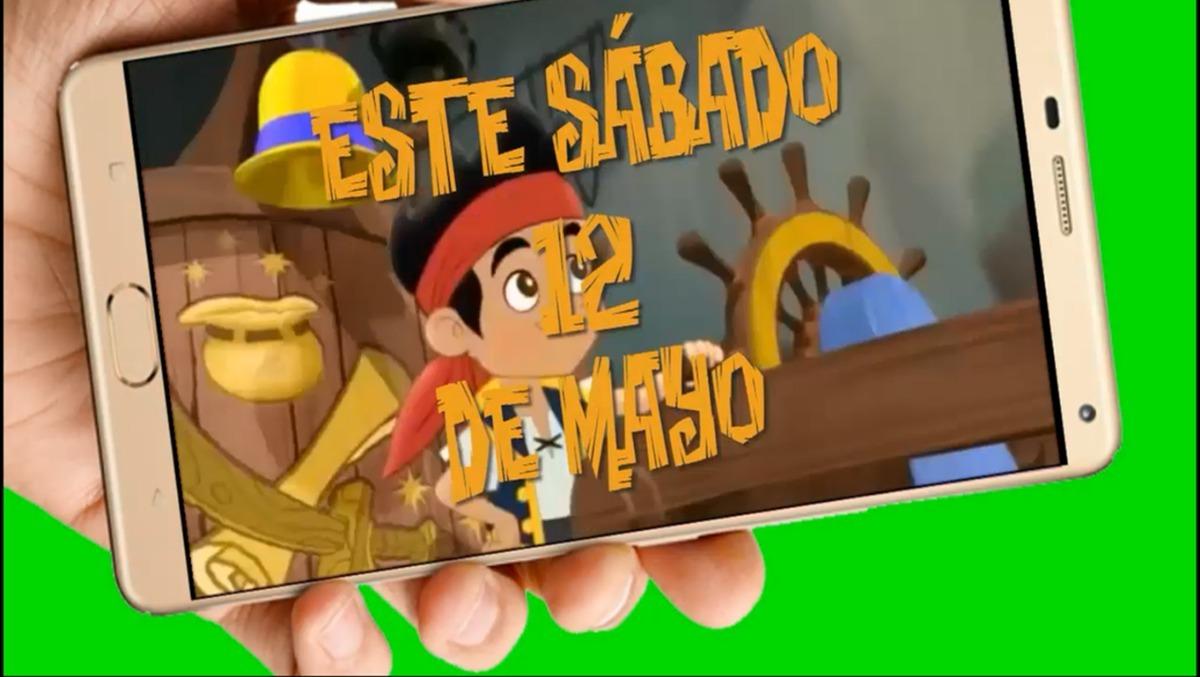 Jake Y Los Piratas Vídeo Tarjeta Invitación Cumpleaños
