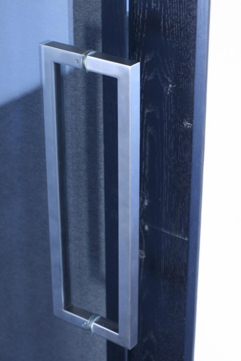 Jaladera cuadrada para puerta vidrio madera cristal - Puertas de madera y cristal ...