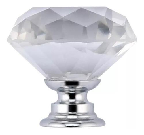jaladera de boton de cristal
