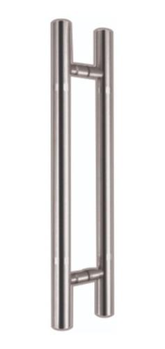 jaladera tipo h 45cm acero inoxidable para puerta de cristal