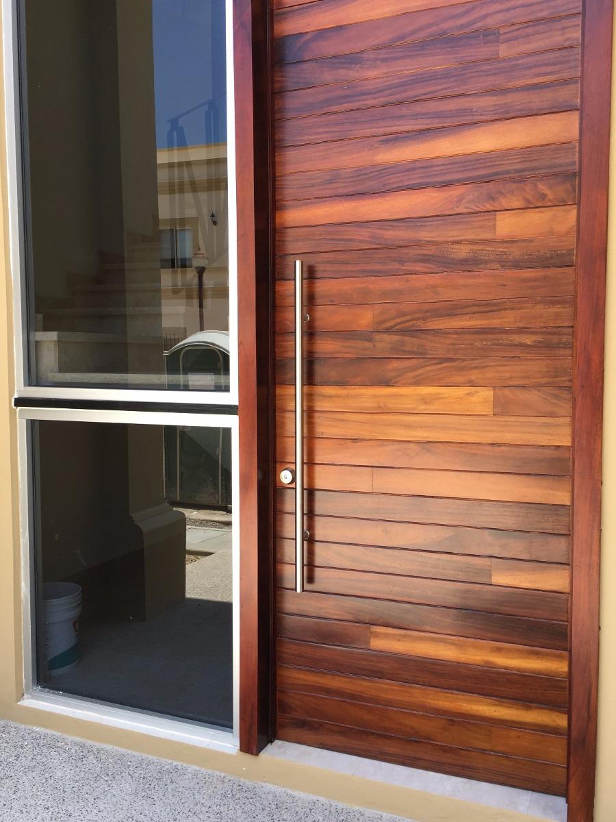 Jaladeras de 120 cm para puerta principal madera acero for Modelos de puertas de madera para puerta principal