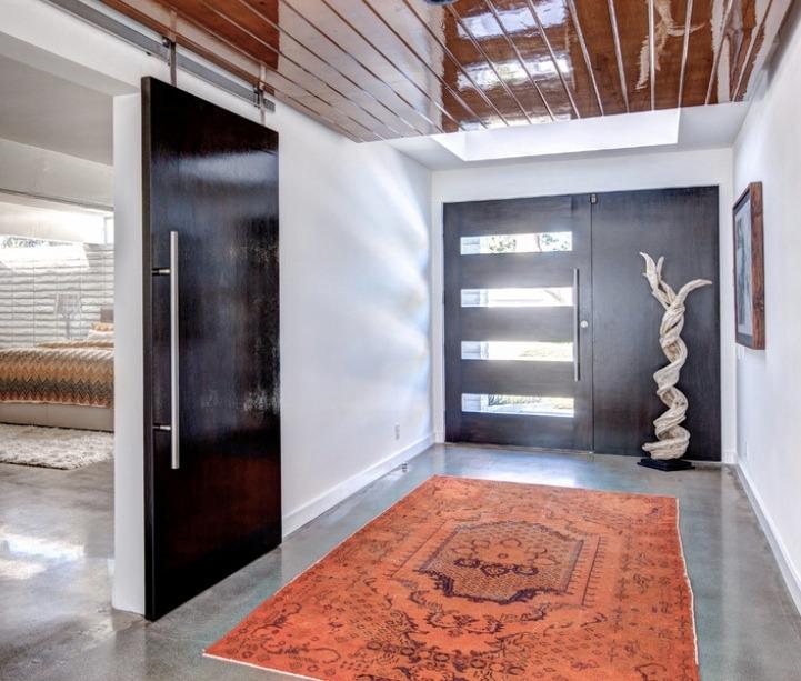 Jaladeras en 120 cm para puerta principal madera cristal for Puertas metalicas entrada principal