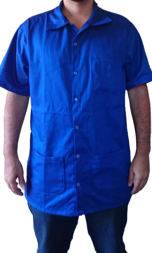03b099d315d28 Jaleco Brim Uniforme Com 3 Bolsos - Tam Especial Azul Royal - R  32 ...