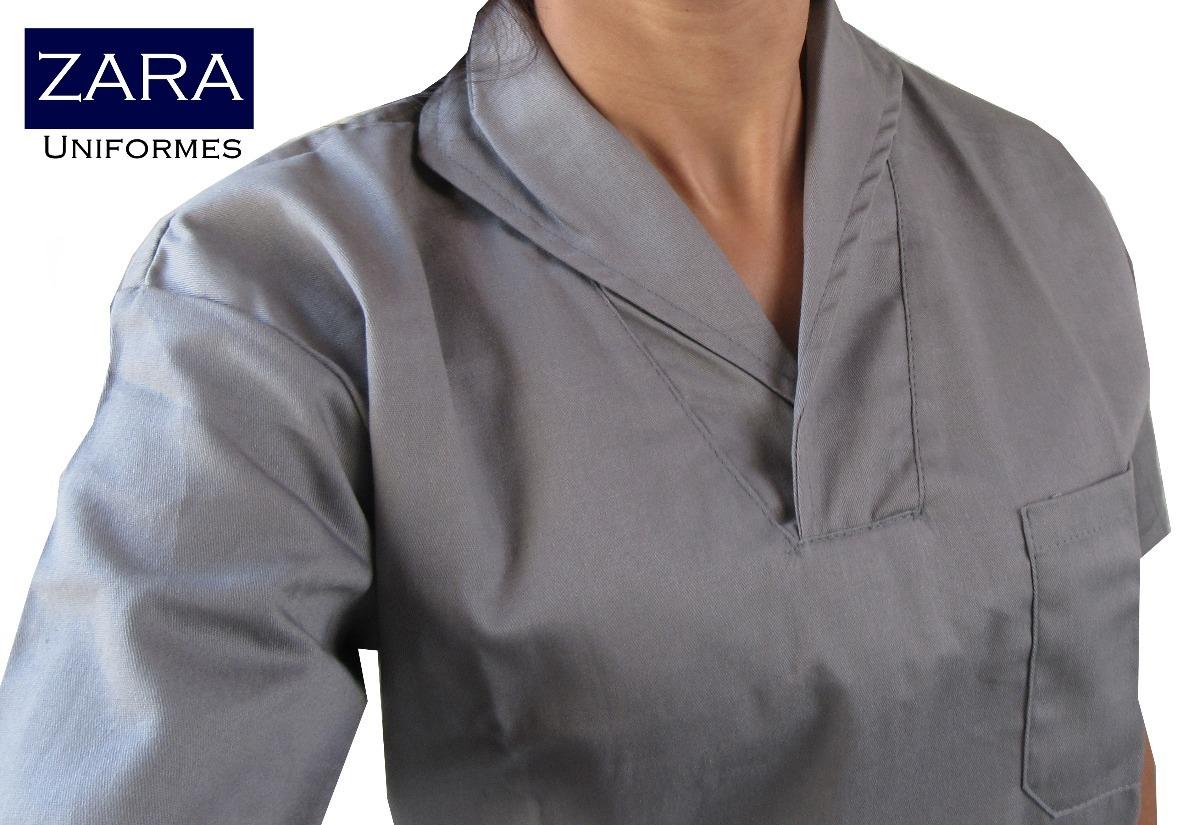7f44113272a3e jaleco camisa branco gola italiana manga curta brim profissi. Carregando  zoom.