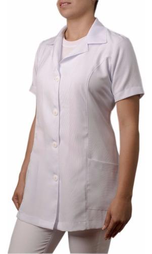 jaleco feminino manga curta acinturado