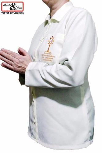 jaleco feminino ministro extraordinário da sagrada comunhão