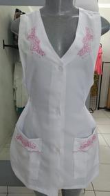 08a8d9fc0b Jaleco De Enfermagem Feminino Bordado Rosa - Calçados