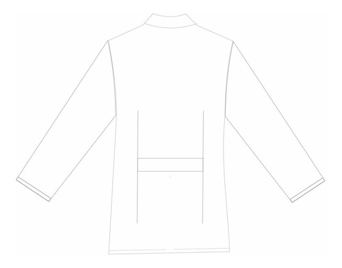 jaleco manga comprida unissex laboratório 3 bolso plus size