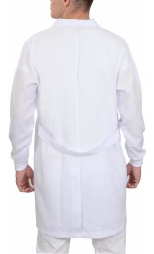 jaleco microfibra masculino com punhos, enfermeiro