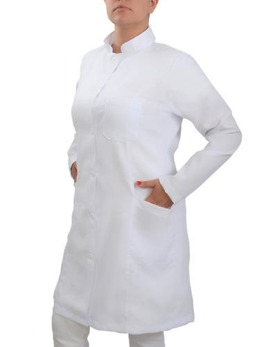 jaleco oxford feminino gola padre bolso bordado grátis