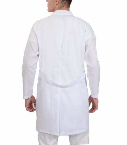 jaleco oxford masculino gola padre bolso bordado grátis