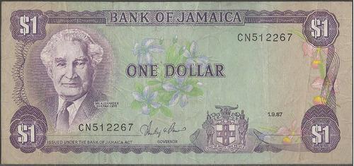 jamaica 1 dollar 1 sep 1987 p68ab