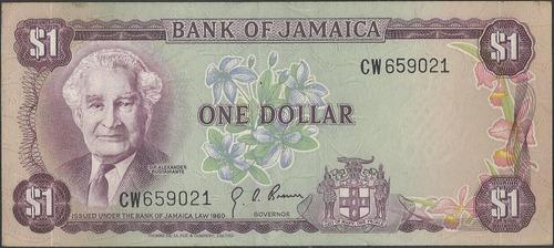 jamaica 1 dollar l1960 (1970) p54