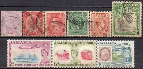 jamaica - acumulação com 9 selos c4