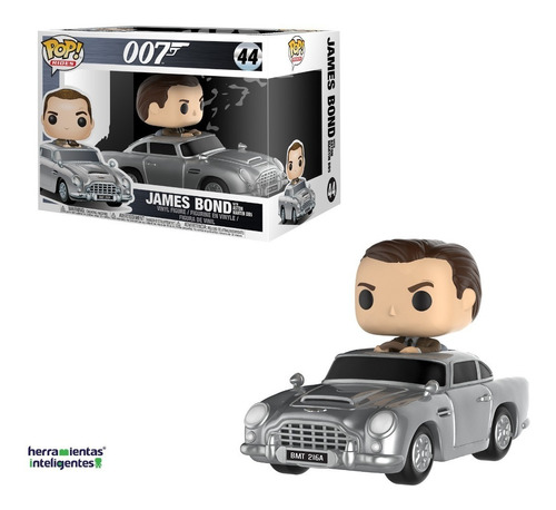 james bond with aston martin funko pop 007