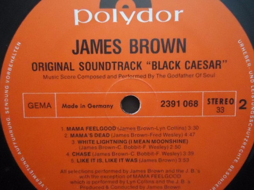 james brown / black caesar soundtrack vinyl lp acetato imp