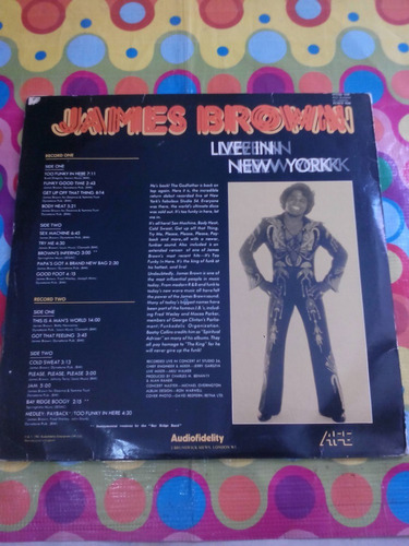 james brown lp live in new york 1981. importado inglaterra.