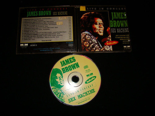 james brown sex machine live in concert 1995 arg cd nm