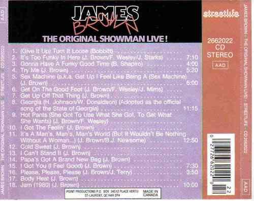 james brown - the original showman live