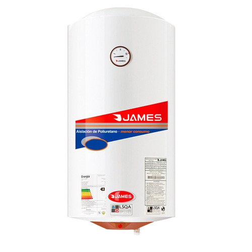 james - termotanque 110 lts - acero - cilindrico bigsale