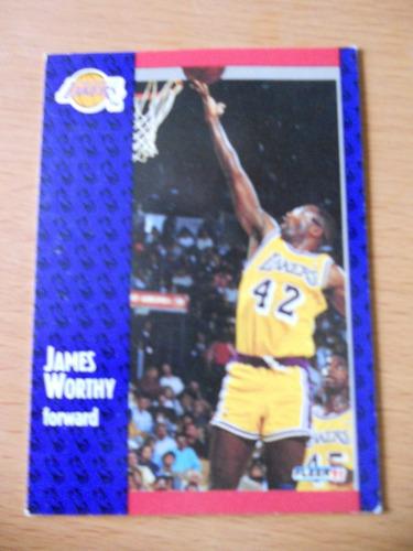 james worthy los angeles lakers card 1991