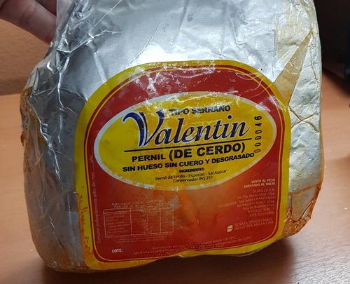 jamon crudo valentin  serrano (precio por kg)